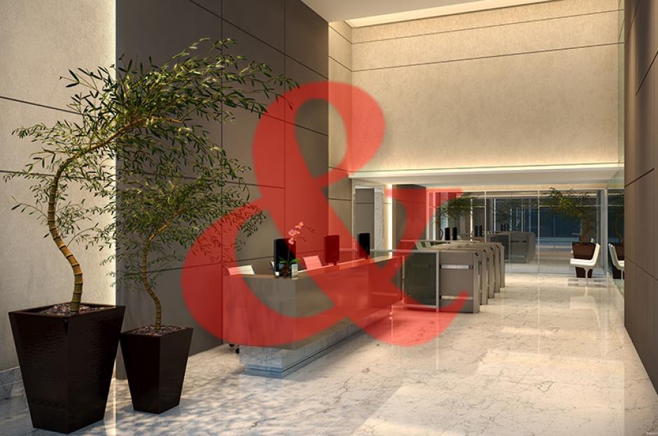 Locação laje corporativa The Blue Officemall Santos